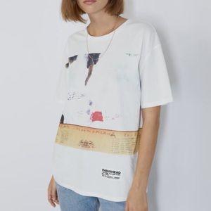 Zara RadioHead Oversized Graphic T-Shirt Size M